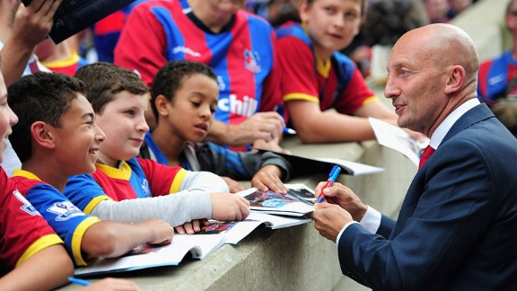 Ian Holloway before Crystal Palace's match against Tottenham.