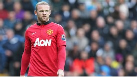 Wayne Rooney struggled to break into a smile during Man United's 4-1 win at Swansea City.
