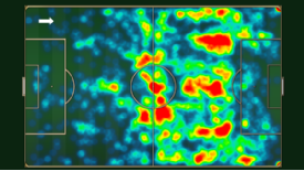 Oscar's Premier League touches show how he tries to influence the play from inside the opponents' half.