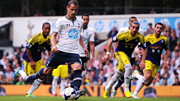 Roberto Soldado has scored two penalties in two Premier League games.