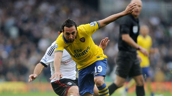 Santi Cazorla operated in a deeper role than usual against Fulham.