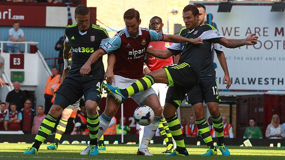 Stoke's defence prevented West Ham getting a sniff of goal.