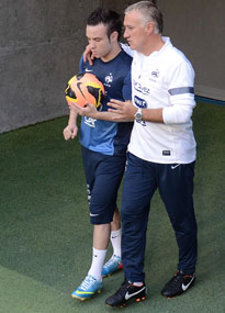 Mathieu Valbuena and Didier Deschamps