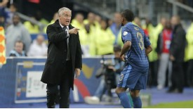 Didier Deshcamps Patrice Evra touchline exchange France