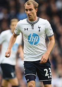Christian Eriksen dazzled in his Spurs debut against Norwich.
