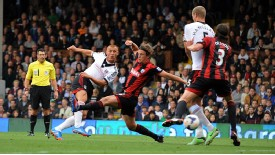 Steve Sidwell fires Fulham into the lead against West Brom.