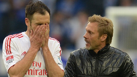 Hamburg captain Heiko Westermann and manager Thorsten Fink did not see eye-to-eye.