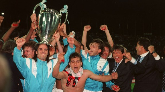 Marseille Champions League celebration