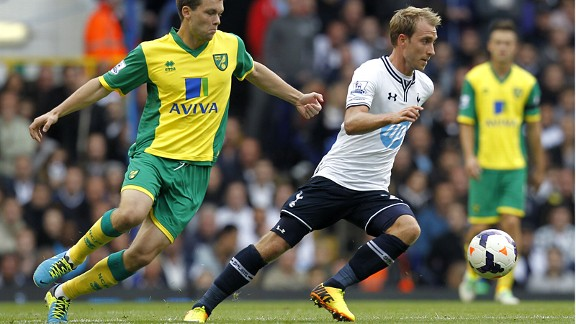 Christian Eriksen set up Spurs' first goal from open play this season.