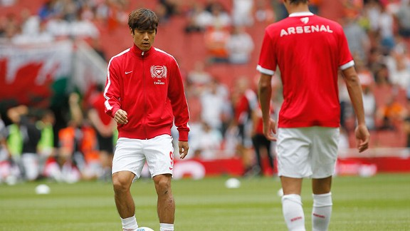 Park Chu-Young has nearly vanished from sight at Arsenal.