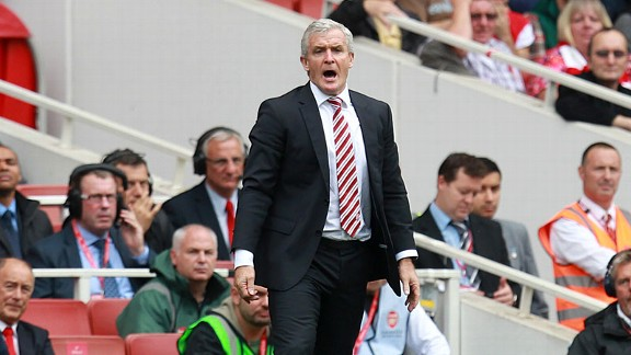 Mark Hughes shout Arsenal Stoke