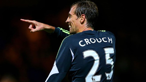 Peter Crouch added Stoke's second late on