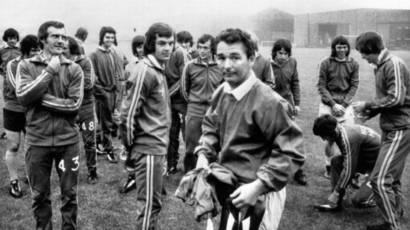 Brian Clough Leeds training 1974