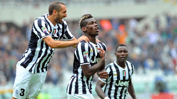 Paul Pogba scored for Juventus against Torino.