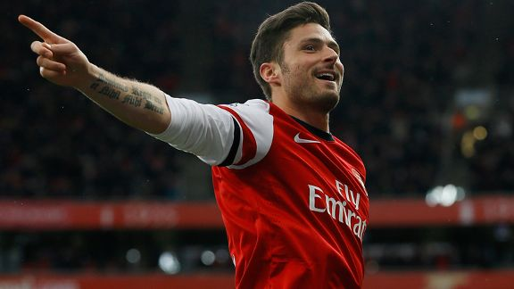 Olivier Giroud has been in sparkling form this season.