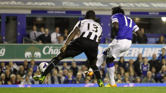 Romelu lukaku first goal Everton v Newcastle