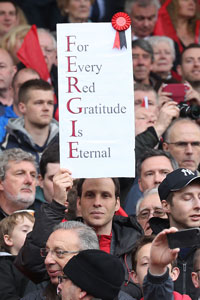 Sir Alex Ferguson banner