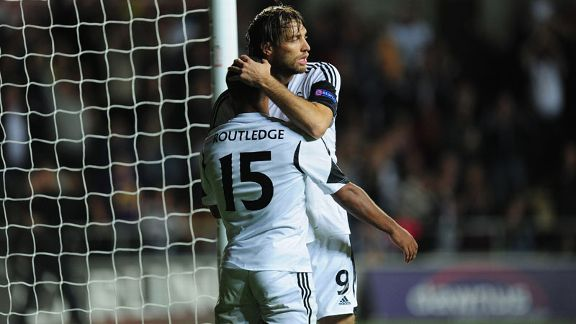 Wayne Routledge celebrates