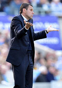 Gus Poyet was accused of lacking a plan B at Brighton.