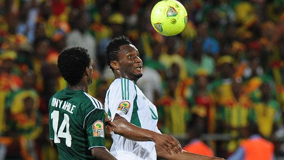 Ethiopia's Minyahile Teshome will renew acquaintances with Nigeria's John Obi Mikel.