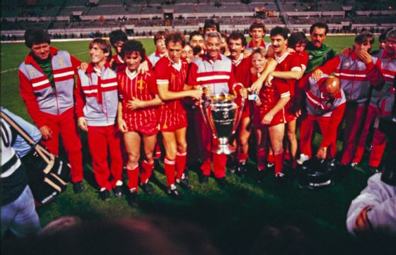 Liverpool beat Roma, in Rome, to lift the 1984 European Cup.