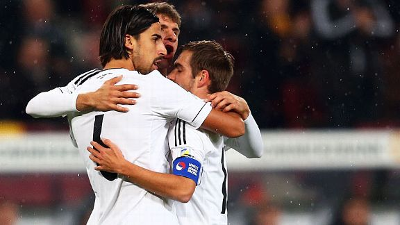Sami Khedira scored early for Germany against Republic of Ireland.
