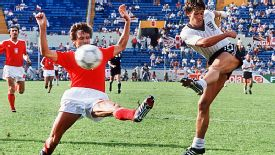 Gary Lineker scored a hat trick against Poland in 1986.