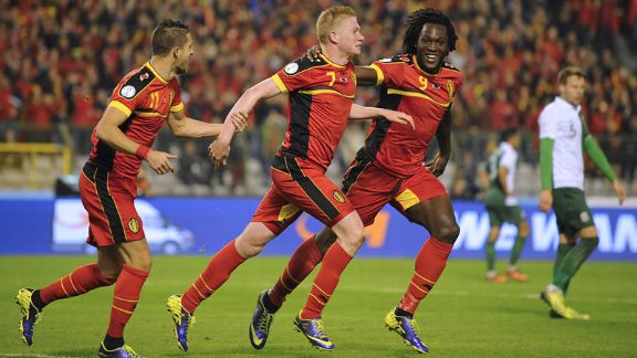 Kevin De Bruyne broke the deadlock for Belgium against Wales.