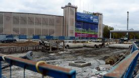 Dinamo Moscow's stadium during reconstruction works.