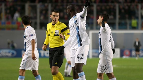 Yaya Toure point Manchester City racism CSKA Moscow referee