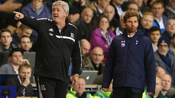 AVB (right) had some words of advice for Spurs fans after Hull match.