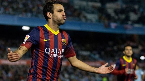 Cesc Fabregas sealed the win for Barcelona with a goal of his own.