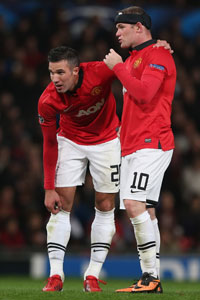Wayne Rooney and Robin van Persie Man Utd 2