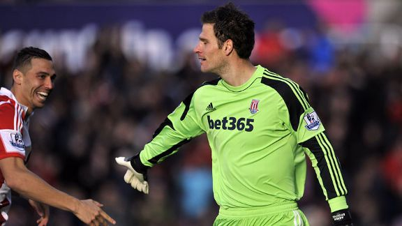 Stoke goalkeeper Asmir Begovic gave them the lead against Southampton.