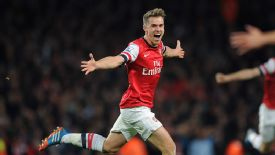 Aaron Ramsey starred for Arsenal against Liverpool in the Premier League.