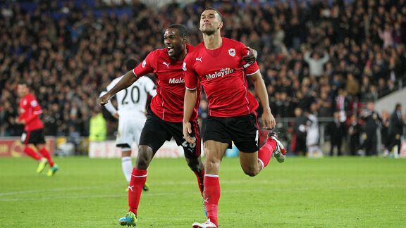 Steven Caulker scored Cardiff's winner against Swansea.