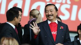Vincent Tan was in the crowd to watch Cardiff take on Swansea.