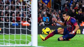 Alexis Sanchez nets Barcelona's winner.