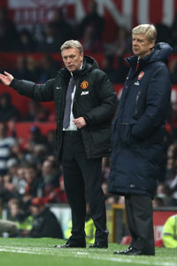 David Moyes and Arsene Wenger Man Utd vs Arsenal