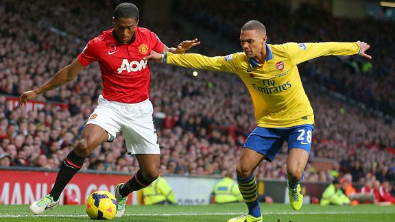 Kieran Gibbs and Antonio Valencia