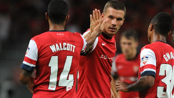 Lukas Podolski and Theo Walcott have been a big miss for the Gunners.