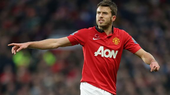 Michael Carrick has completed 674 passes in the Premier League this term.