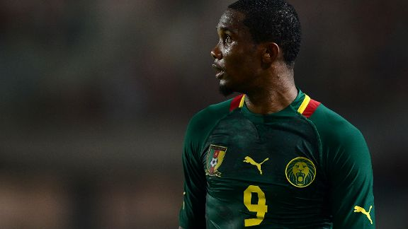 Samuel Eto'o has hit a patch of form ahead of World Cup qualifier.