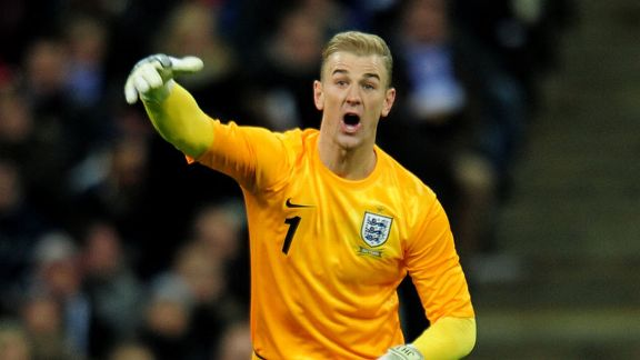 Joe Hart shout England Germany
