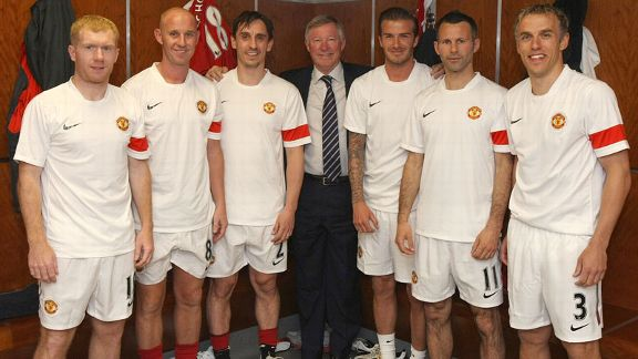 The Class Of '92 - Giggs, Neville, BEckham, Scholes, Butt