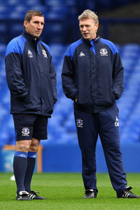 Alan Stubbs and David Moyes Everton