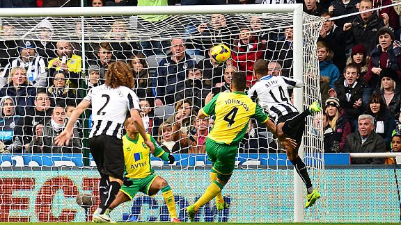 Loic Remy fires Newcastle into an early lead against Newcastle.