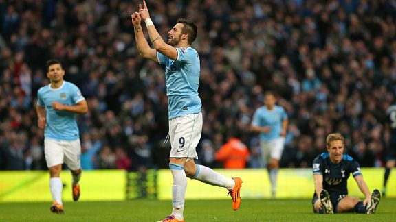 Alvaro Negredo celeb Man City vs Spurs