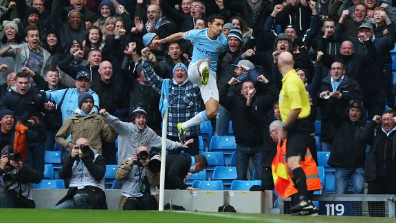 Jesus Navas celeb MAn City vs Spurs