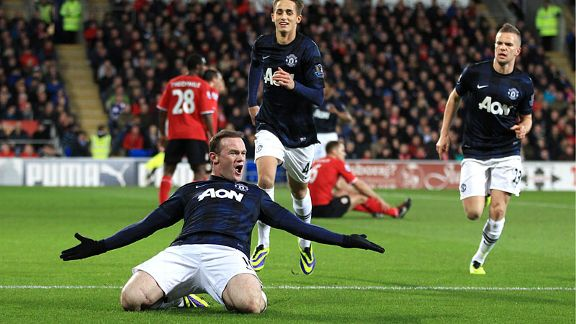 Wayne Rooney goal Cardiff vs Man Utd